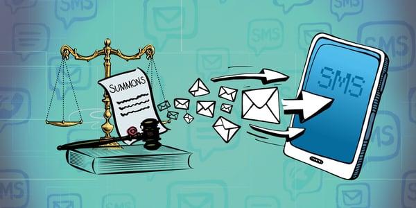 судебное SMS