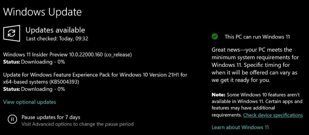 Windows 10 начала уведомлять пользователей о готовности ПК перейти на Windows 11