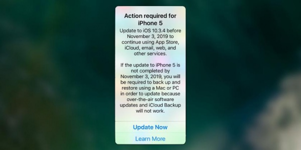 Владельцев старых iPhone заставят к 3 ноября обновиться до iOS 10.3.4