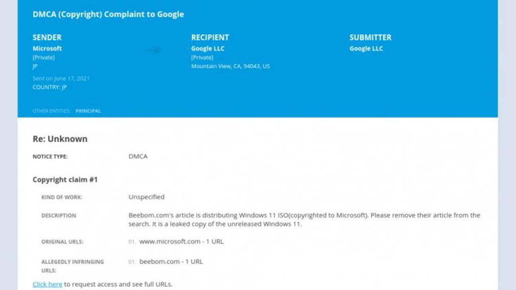Microsoft подала официальную жалобу на Google в рамках закона об авторском праве DMCA