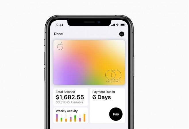 Apple представила свою первую виртуальную кредитную карту