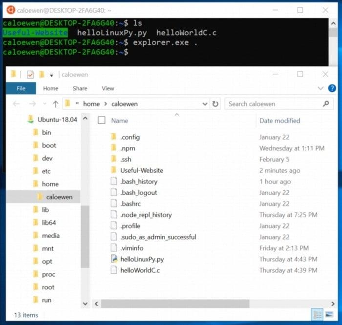 В Windows 10 появится встроенная поддержка файловой системы Linux