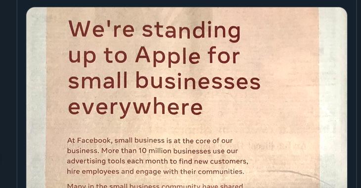 Facebook рассматривает возможность подачи антимонопольного иска против Apple