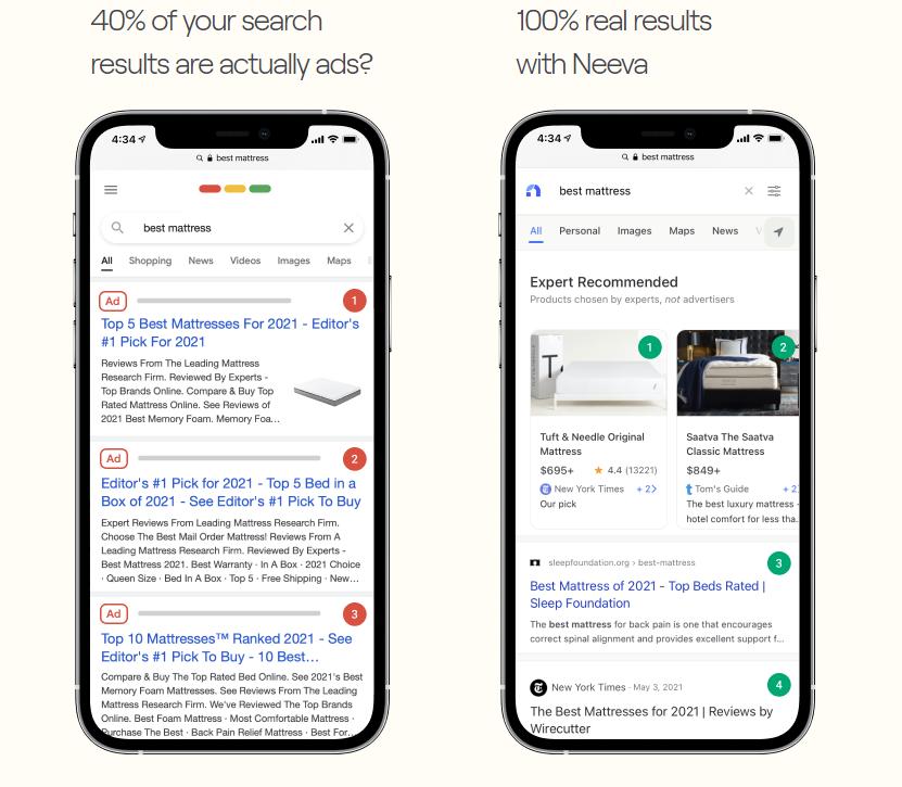 Бывшие сотрудники Google запустили поисковик без рекламы Neeva