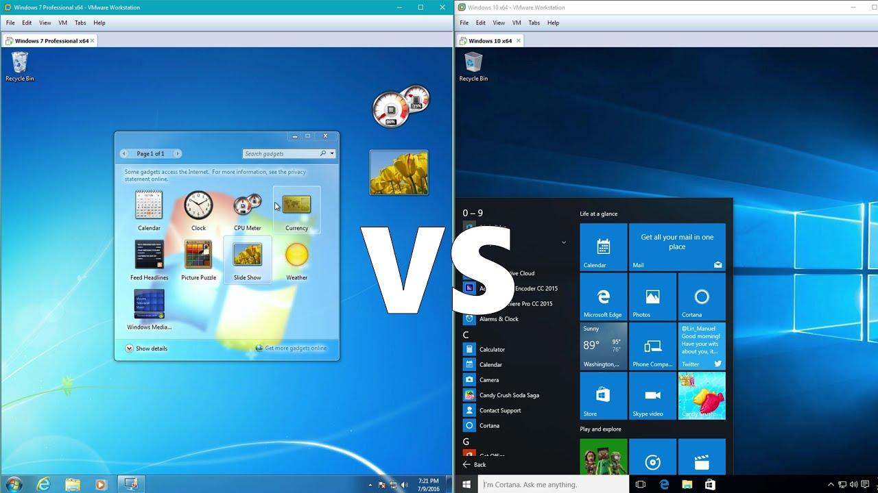 Количество пользователей Windows 7 и Windows 10 только только сравнялось